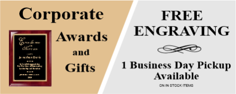 Corporate Awards Free Engraving